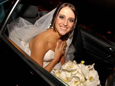 A chegada da noiva!