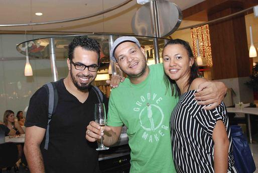 Marcio Bonfim, Gustavo Caribé e Janaina Mendes