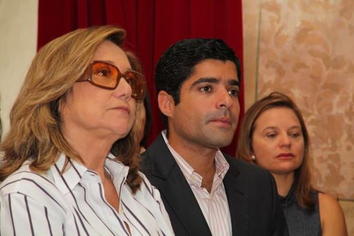 Eu muito feliz com tantos amigos na Igreja ao lado de ACM Neto, atual prefeito de Salvador