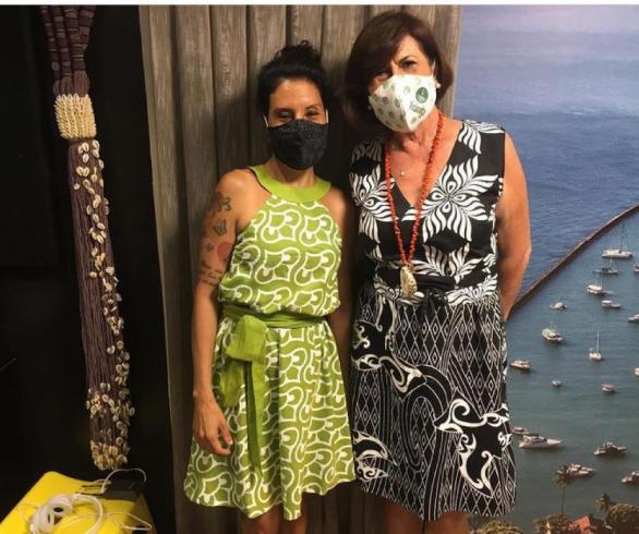 Luciana Galeão e Celeste Leão são sócias na empresa Mais+ (Moda, Arquitetura, Informação e Sustentabilidade)