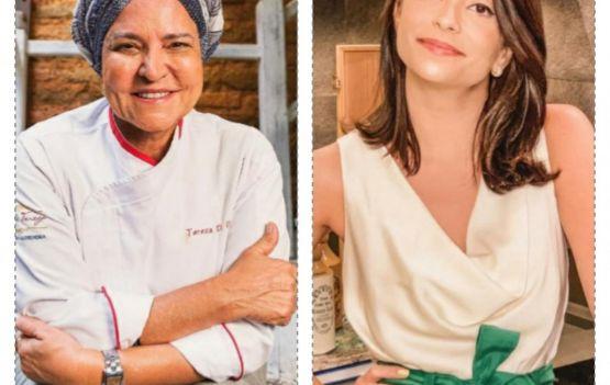 Tereza Paim prepara um Spaghetti à Carbonara em live com Ticiana Barata no quadro 'Tici Cooks'