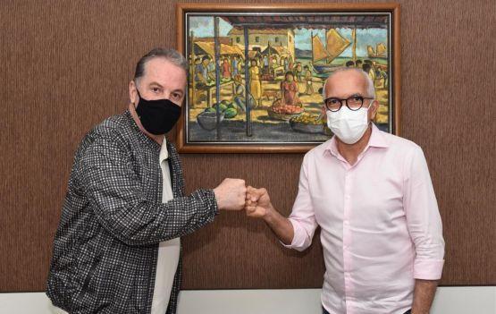 Carlos Amorim e Edvaldo Nogueira. Foto reprodução
