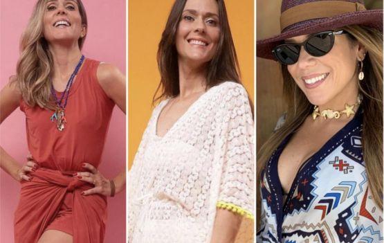 Três mulheres lindas representando a moda baiana.