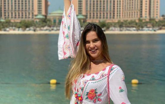 A doceira PriscillaDiniz encantada com Dubai nos Emirados Árabes Unidos