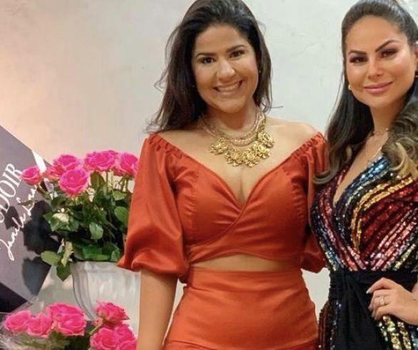 Na foto, Samanta Dalla e Jamile Lima.