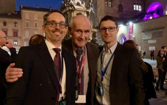 Dr Marcelo Liberato, Hugo Partsch, o colega brasileiro, e Eduardo da Mata