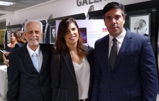 Diretores do Grupo Aratu, Nei Bandeira, Ana Coelho e Tiago Coelho  marcaram presença na sessão especial
