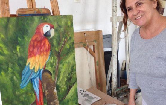 A artista plástica baiana Conceição Amaral encerra a temporada 2019 do Circuito de Arte Perini.
