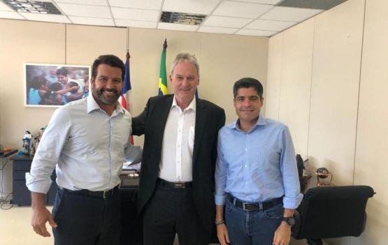 Paulo Magalhães Júnior , José Roberto Meister Müssnich e o prefeito ACM Neto