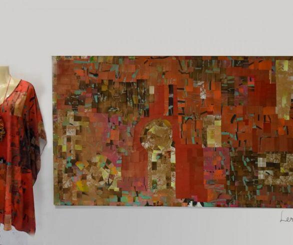 Arte  que se veste coleção Thina Cunha