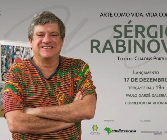 LIVRO COMEMORA 40 ANOS DA  ARTE DE SÉRGIO RABINOVITZ
