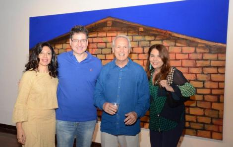 Adriana Hipólito da Costa, Olmar Battaglia, Araken Hipólito da Costa e Ana Claudia Vaz