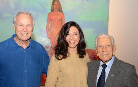 Araken e Adriana Hipólito da Costa com o Brigadeiro Clovis Bohrer