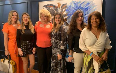 Cristina Alencar, Manuela Alencar, Ana Amélia Doria, Daniela Alencar, Claudia Alencar e Tika Marques