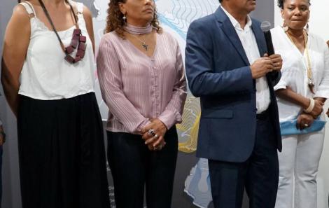 Teresa carvalho, Luciana Embilina, Davidson Magalhães e Margareth Menezes