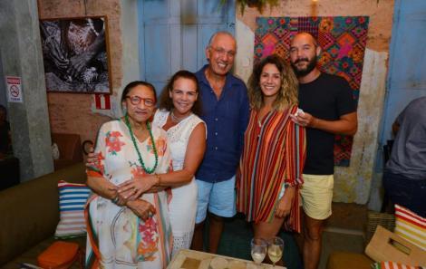 Licia Fabio, Laura e Drausio Barreto e Ana Barreto e Khin