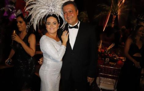 A primeira Dama Aline e o governador Rui Costa
