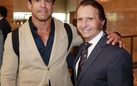 Vitor Belfort e Emerson Fittipaldi /Foto: Fred Pontes