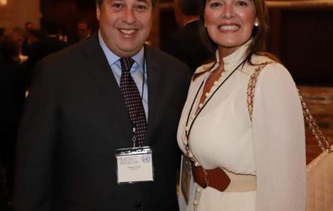 O casal George Fauci e Vanessa de Oliveira /Foto: Fred Pontes