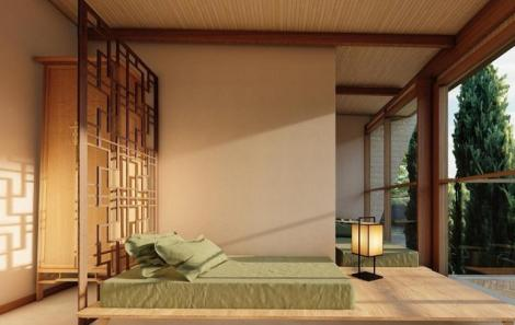Condomínio sustentável assinado por Cintia Dicker coloca a arquitetura oriental no litoral baiano