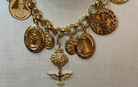 Colar coleção sagra ouro amarelo 18cts